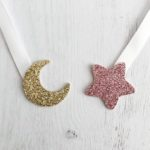 étoile rose gold - lune or pailletté